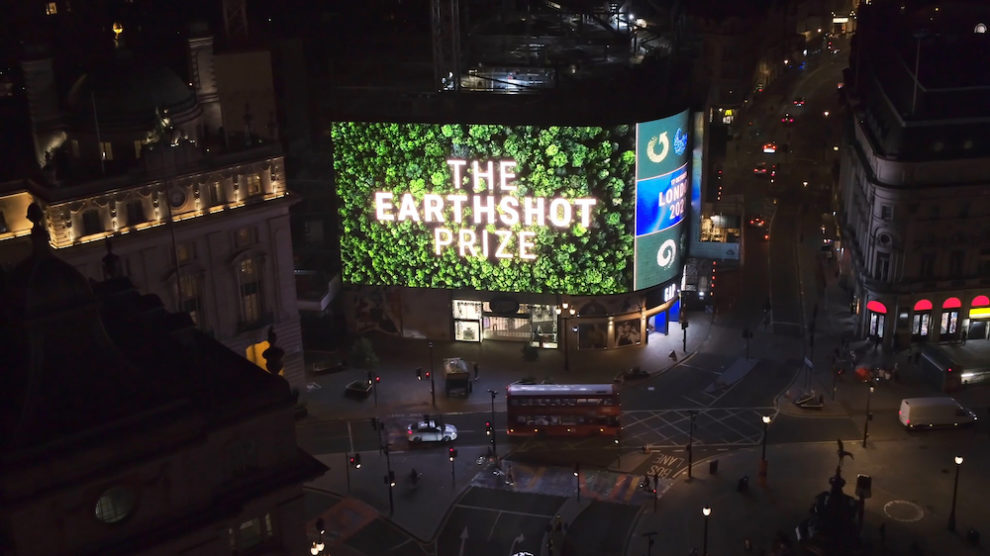 Earthshot Prize –Picadilly Lights supports the inaugural Earthshot Prize Awards to be broadcast on Sunday 17 October